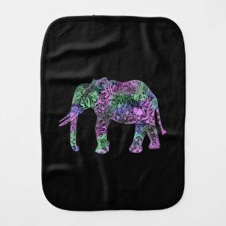 Paninho De Boca elefante de néon floral tribal colorido