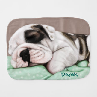 Paninho De Boca Filhote de cachorro do buldogue do sono