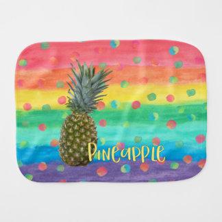 Paninho De Boca Listras na moda e pontos do arco-íris do abacaxi