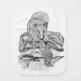 Paninho De Boca Lobo e corvo - design preto e branco