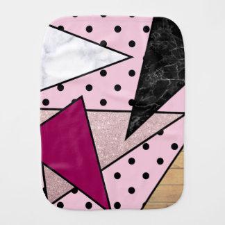 Paninho De Boca Madeira cor-de-rosa geométrica elegante do mármore