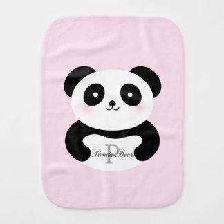 Paninho De Boca Monograma feminino bonito do urso de panda do bebé
