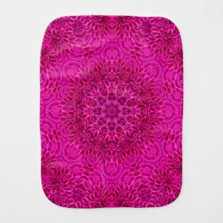Paninho De Boca Pano cor-de-rosa do Burp do caleidoscópio da flor
