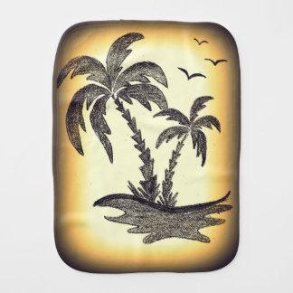 Paninho De Boca Pano do Burp com árvores de palma