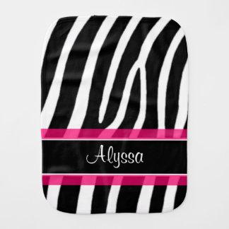 Paninho De Boca Pano personalizado do Burp da zebra impressão