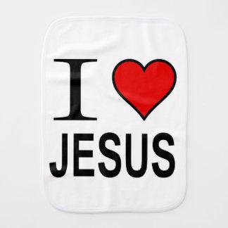 Paninho De Boca Presentes de Jesus eu amo Jesus em um pano burping