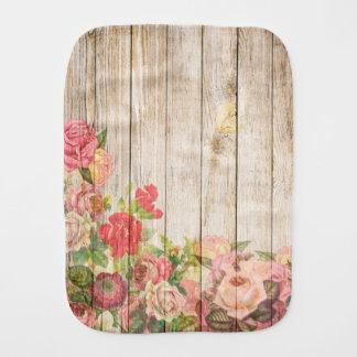 Paninho De Boca Rosas românticos rústicos do vintage de madeira