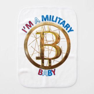 Paninho De Boca Roupa militar do bebê de Bitcoin