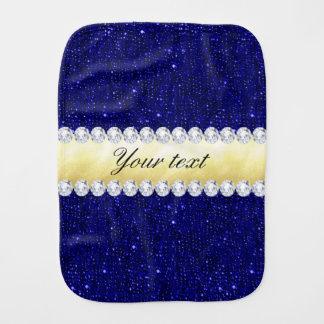 Paninho De Boca Sequins personalizados do marinho, ouro, diamantes