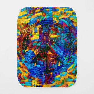 Paninho De Boca Símbolo de paz colorido do mosaico