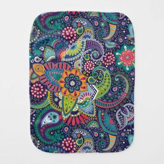 Paninho De Boca Teste padrão floral multicolorido de néon de