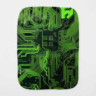 Paninho De Boca Verde legal do computador de conselho do circuito