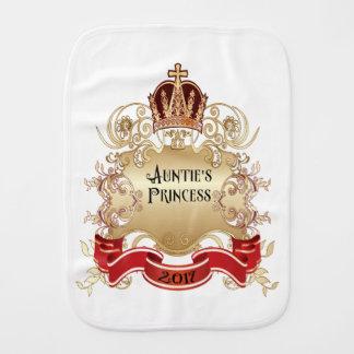 Paninho Para Bebês A princesa Burp Pano-Branco do Auntie