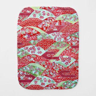Paninho Para Bebês Arte Origami floral vermelho Yuzen de Washi do