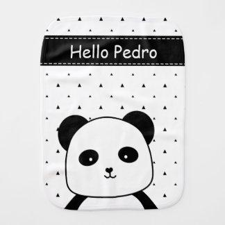 Paninho Para Bebês Bebé preto e branco do Monochrome da panda