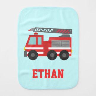 Paninho Para Bebês Carro de bombeiros vermelho bonito para bombeiros