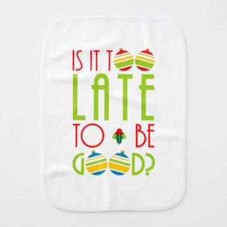 Paninho Para Bebês Colorido demasiado tarde para ser bom Natal