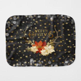 Paninho Para Bebês Confetes florais dos Antlers do Feliz Natal