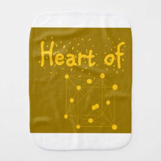 Paninho Para Bebês coração presente do equipamento do bebê do ouro do