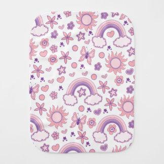 Paninho Para Bebês Design cor-de-rosa e roxo bonito