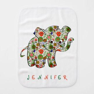 Paninho Para Bebês Elefante floral colorido bonito do bebê