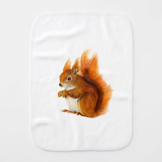 Paninho Para Bebês Esquilo vermelho pintado na arte dos animais