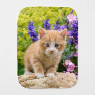 Paninho Para Bebês Gatinho bonito do gato do gengibre no retrato