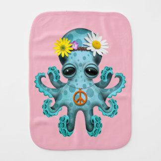 Paninho Para Bebês Hippie bonito do polvo do bebê azul