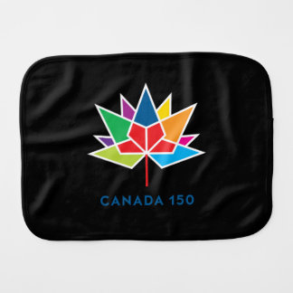 Paninho Para Bebês Logotipo do oficial de Canadá 150 - multicolorido