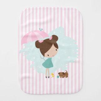 Paninho Para Bebês Menina doce com o pano do burp do bebé dos animais