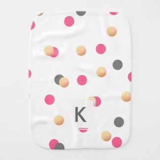 Paninho Para Bebês o confete cor-de-rosa cinzento do ouro elegante do