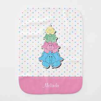 Paninho Para Bebês O Pastel pontilha o elefante cor-de-rosa do bebê