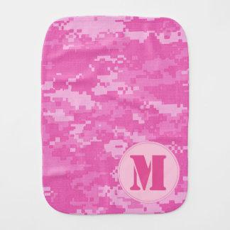Paninho Para Bebês Pano cor-de-rosa do Burp da camuflagem da ACU Camo