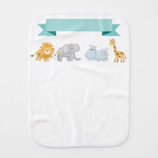Paninho Para Bebês Pano do Burp da bandeira dos animais do safari