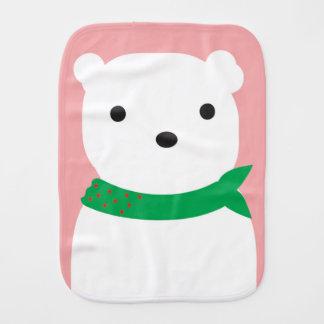 Paninho Para Bebês Pano do Burp do bebê do urso polar