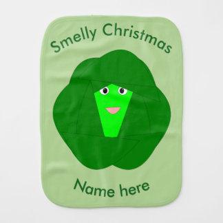Paninho Para Bebês Pano Smelly do Burp da couve de Bruxelas do Natal