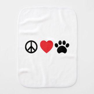 Paninho Para Bebês Pata do amor da paz