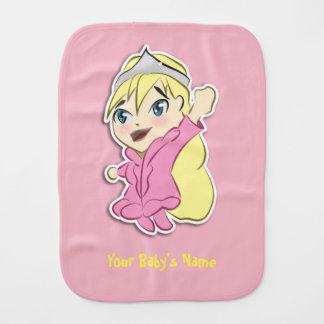 Paninho Para Bebês Princesa corajosa Burp Pano de Chibi