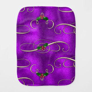 Paninho Para Bebês Redemoinhos românticos do Natal do Lilac