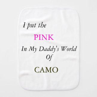 Paninho Para Bebês Rosa em CAMO