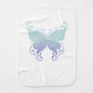 Paninho Para Bebês Silhueta Pastel da borboleta - pano do Burp do