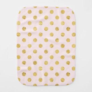 Paninho Para Bebês Teste padrão de bolinhas elegante da folha de ouro
