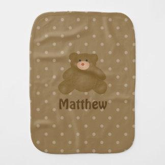 Paninho Para Bebês Urso e bolinhas de ursinho peluches bonito do bebê