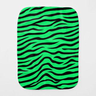 Paninho Para Bebês Zebra animal de néon do impressão do verde limão e