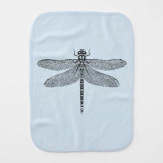 Pano azul do Burp da libélula Paninho Para Bebês