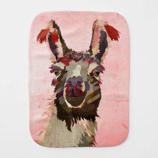 Pano cor-de-rosa do Burp do lama Fraldinha De Boca