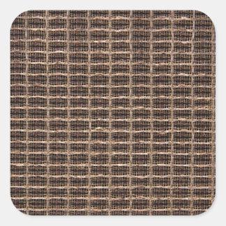 Pano da grade do vintage adesivo quadrado