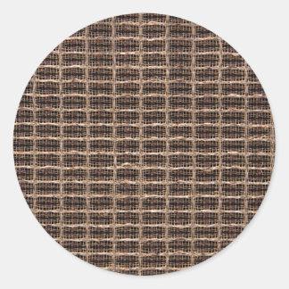 Pano da grade do vintage adesivo em formato redondo