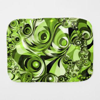 Pano De Boca Abstrato retro do verde