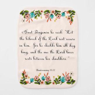 Pano De Boca Arte cristã das citações - 33:12 de Deuteronomy